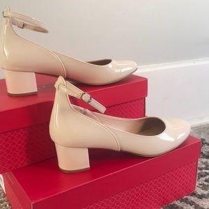 One inch pink nude heels